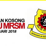Jawatan Kosong Maktab Rendah Sains Mara (MRSM) 2018/2019