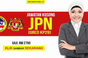 [Permohonan Terbuka!] Kerja Kosong JPN Pegawai Gred KP29