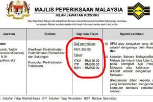 Terkini!!! Jawatan Kosong Majlis Peperiksaan Malaysia (MPM)