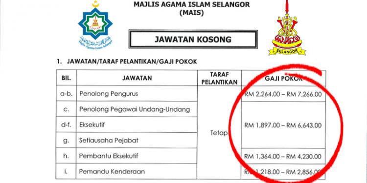 Jawatan Kosong Selangor MAIS (Majlis Agama Islam Selangor)