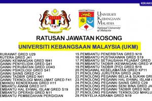 Jawatan Kosong UKM Universiti Kebangsaan Malaysia