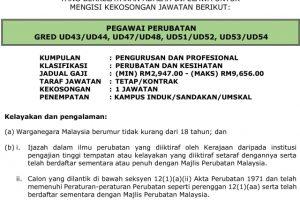 Jawatan Kosong Universiti Malaysia Sabah (UMS)