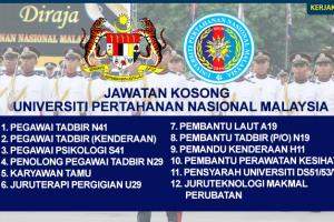 Jawatan Kosong Universiti Pertahanan Nasional Malaysia