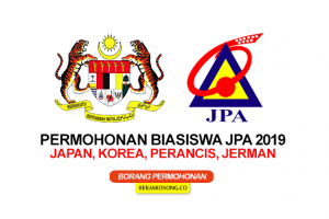 Permohonan Biasiswa JPA 2019