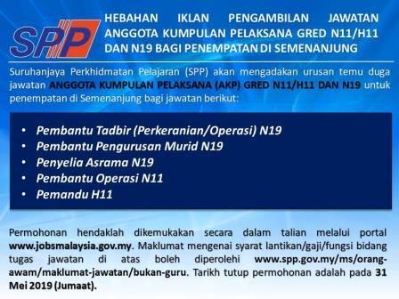 Iklan Jawatan Kosong di Suruhanjaya Perkhidmatan Pelajaran SPP