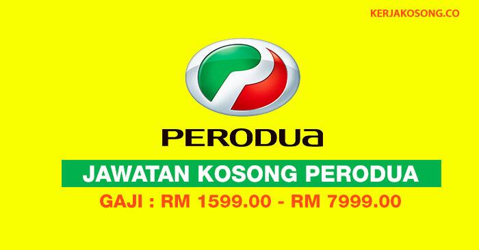 Jawatan Kosong di Perodua 2019