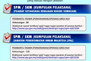 Maklumat Penuh Jawatan Kosong JPA Pembantu Tadbir Gred N19