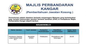 Jawatan Kosong Majlis Perbandaran Kangar (MPK)