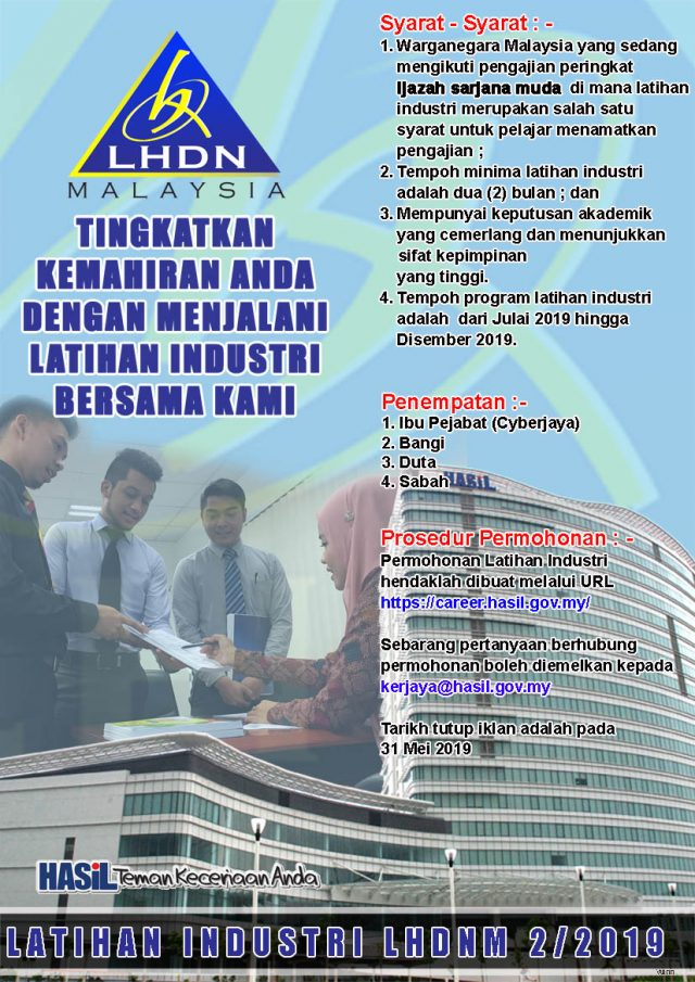 Iklan Program Latihan Industri LHDN
