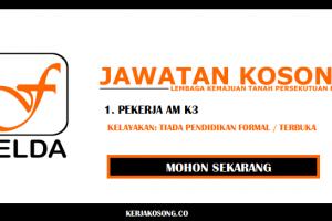 Kerja kosong di FELDA pengambilan Seluruh Malaysia