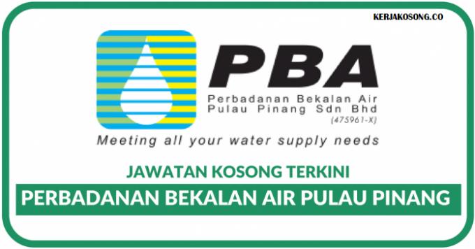 Jawatan Kosong Perbadanan Bekalan Air Pulau Pinang ...