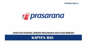 Jawatan Kosong Prasarana Malaysia Berhad - Kapten Bas
