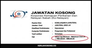 Jawatan Kosong Korporasi Kemajuan Perikanan Dan Nelayan Sabah (Ko-Nelayan)
