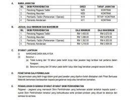 Maklumat Jawatan Kosong Yayasan Pelajaran Johor (YPJ)