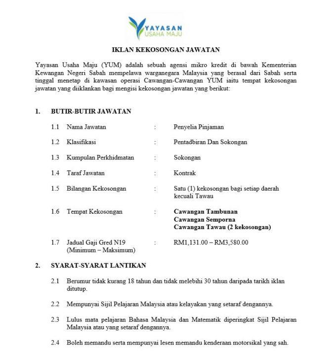 Yayasan Maju Sabah 2