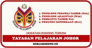 Jawatan Kosong Yayasan Pelajaran Johor (YPJ) Pelbagai Jawatan