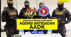 Jawatan Kosong Agensi Antidadah Kebangsaan AADK/KDN 2019