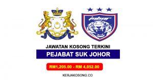 Jawatan Kosong Pejabat Setiausaha Kerajaan Johor (SUK)