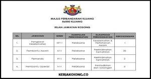 Jawatan Kosong Majlis Perbandaran Kluang (MPK)