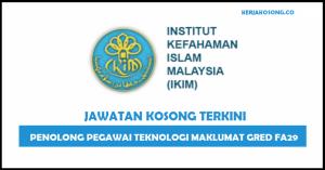 Jawatan Kosong Institut Kefahaman Islam Malaysia