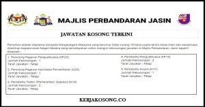 Jawatan Kosong Majlis Perbandaran Jasin - Pelbagai Jawatan