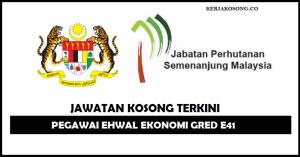 Jawatan Kosong Jabatan Perhutanan Semenanjung Malaysia