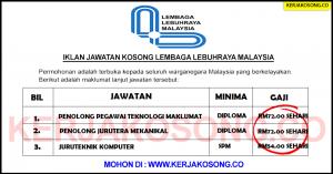 Jawatan Kosong Lembaga Lebuhraya Malaysia (LLM) - Pelbagai Jawatan