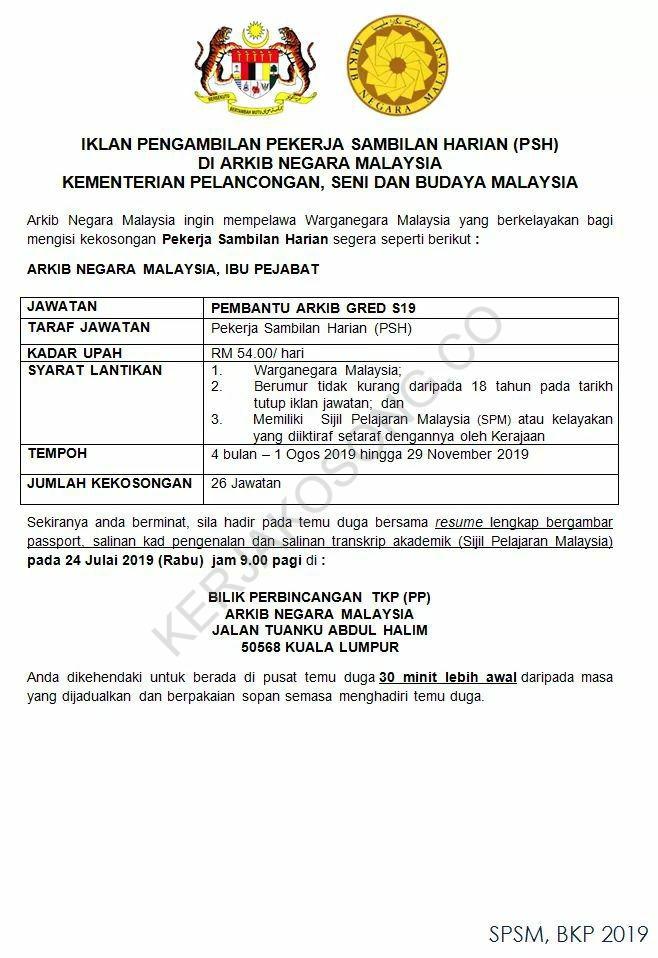 Iklan Jawatan Kosong Arkib Negara Malaysia ConvertImage