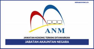 Jawatan Kosong Jabatan Akauntan Negara Malaysia