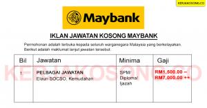 Iklan Jawatan Kosong Maybank