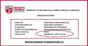 Jawatan Kosong Universiti Putra Malaysia (UPM)- Pensyarah