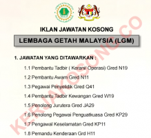 Jawatan Kosong LGM - Lembaga Getah Malaysia