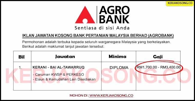 Jawatan Kosong Agrobank Kerani Jawatan Kosong Kerajaan Terkini 2020