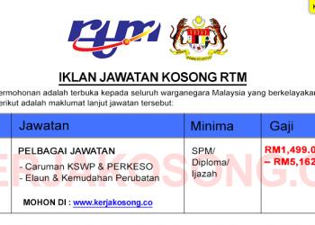 Jawatan Kosong RTM