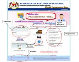 e-Operasi Login Sistem Kemaskini Maklumat Guru KPM 2020