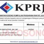 Jawatan Kosong Kumpulan Prasarana Rakyat Johor (KPRJ)