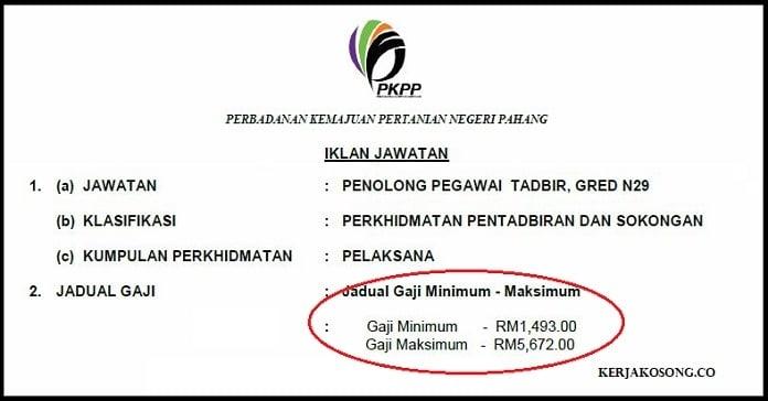 Jawatan Kosong Perbadanan Kemajuan Pertanian Negeri Pahang (PKNP)