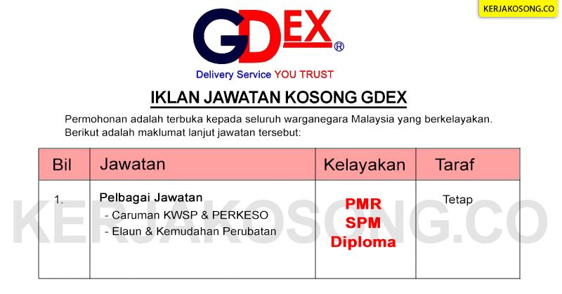 Jawatan Kosong Gdex
