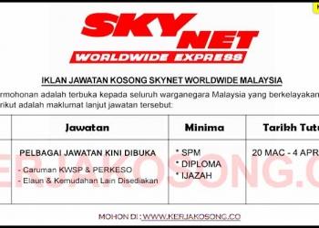 Jawatan Kosong Skynet Worldwide Malaysia