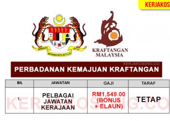 jawatan kosong perbadanan kemajuan kraftangan malaysia table