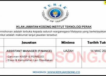 Jawatan Kosong Institut Teknologi Perak