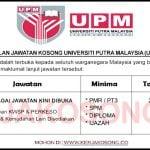 Jawatan Kosong Universiti Putra Malaysia (UPM) ~ 39 Pelbagai Jawatan Dibuka !