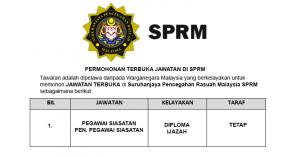 Jawatan Kosong SPRM Permohonan Terbuka