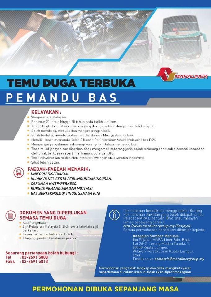 Iklan Jawatan Kosong Mara Liner Sdn Bhd