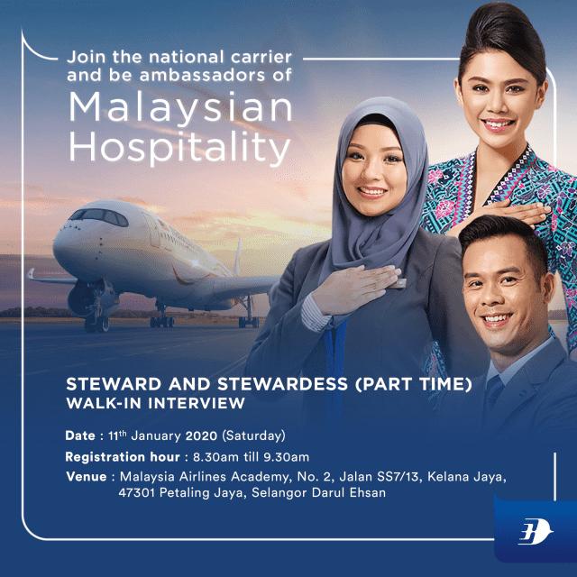 Iklan Jawatan Kosong Part Time Cabin Crew Malaysia Airlines min