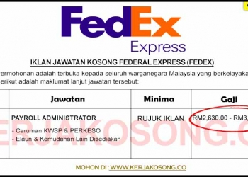 Jawatan Kosong Federal Express (FedEx)