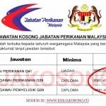 [SPA] Jawatan Kosong Jabatan Perikanan Malaysia (DOF)