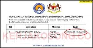 Jawatan Kosong Lembaga Perindustrian Nanas Malaysia (LPMN)