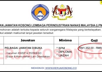 Jawatan Kosong Lembaga Perindustrian Nanas Malaysia LPMN