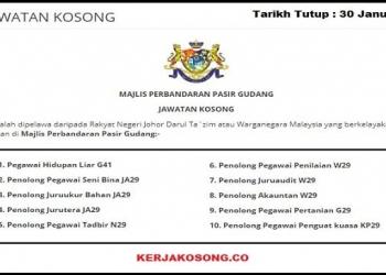 Jawatan Kosong Majlis Perbandaran Pasir Gudang MPPG